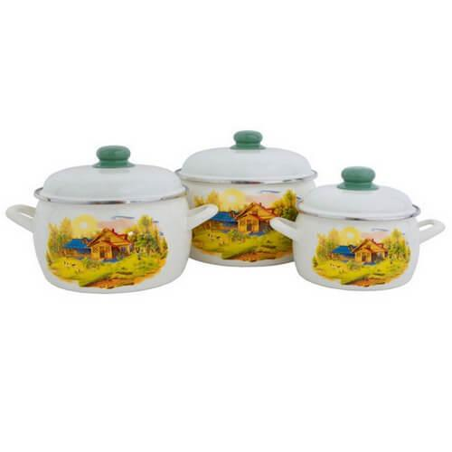 Набір посуду емальований METROT 2281 31 Принц 136799