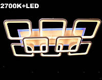 Светодиодная led люстра 6+2 квадрата белая 220 ватт, фото 1