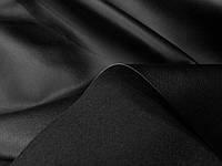 Ткань стрейч-кожа с начесом черная