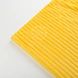 Плюш в смужку Stripes, жовтий колір., фото 3