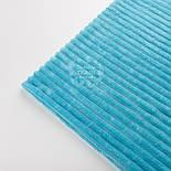 Плюш в полоску Stripes, бирюзового цвета, фото 3