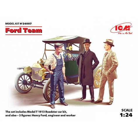 Model T 1913 Roadster с командой Форда. 1/24 ICM 24007, фото 2
