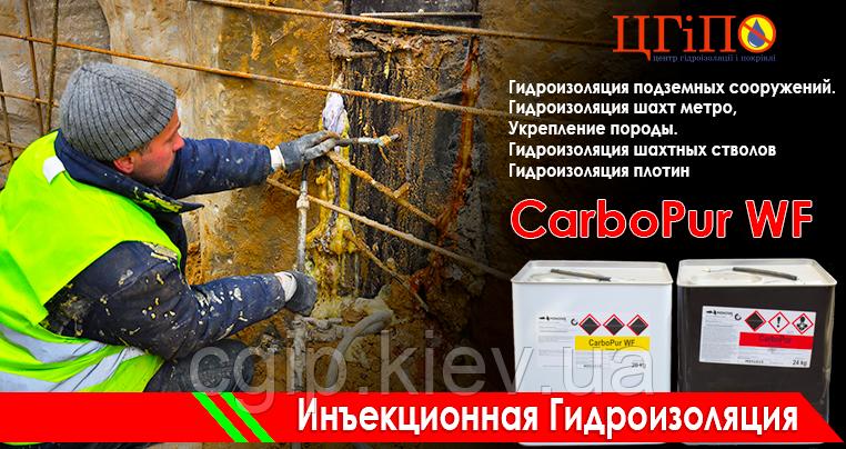 КарбоПур WF (CarboPurWF) - полиуретановая смола для инъектирования (гидроизоляции).