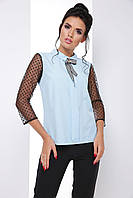 Эффектная женская блуза с рукавом 3/4 из тонкой сетки 7062/4, фото 1