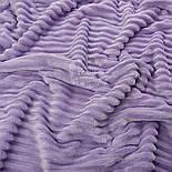 "Отрез плюша в полоску ""Stripes"" размером 100*80 см лавандового цвета, фото 2"