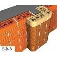 Лицевой фасонный кирпич СБК ВФ-8 1NF 250х120х65 мм красный классический, фото 2