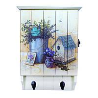Ключница настенная деревянная с вешалкой для одежды