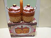 Керамическая Емкость для меда,варенья и т.д, фото 1