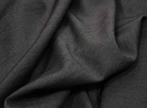 Ткань джинс тонкий темно-серый, фото 2