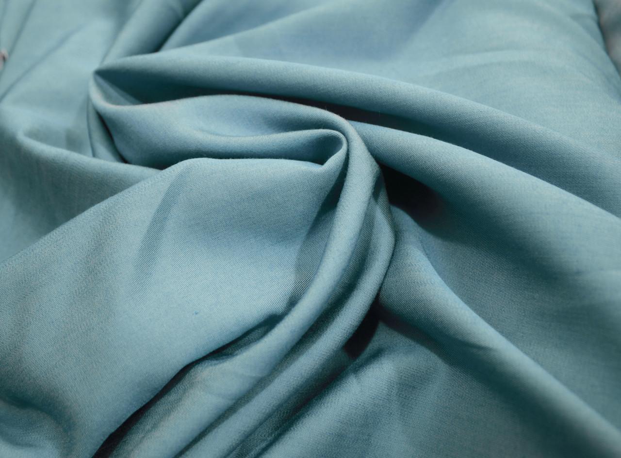Тканина тонкий джинс блакитний