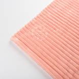 Отрез плюша в полоску Stripes персикового цвета 100*80 см, фото 3