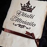 Банний рушник з ім'ям і короною, фото 2