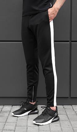 Спортивные штаны beZet Zipp black\white '18, фото 2