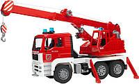 Машина Bruder - пожарная машина с краном MAN 02770