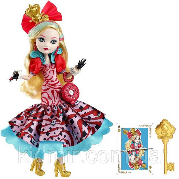 Кукла Ever After High Эппл Уайт (Apple White) из серии Way Too Wonderland Школа Долго и Счастливо
