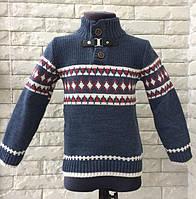"""Стильный теплый свитер """"Скандинавия"""" для мальчиков 3-9 лет /Турция/синий"""