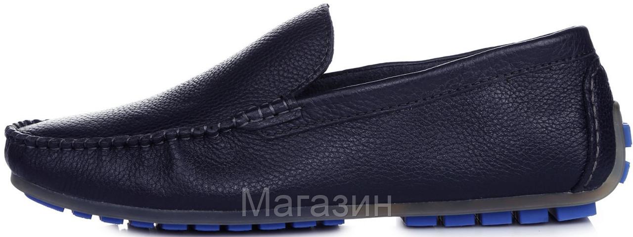 78fa1e5244e Мужские Кожаные Мокасины Clarks Moccasin Blue (Кларкс) Синие — в ...
