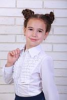 Детская белая блузка для девочки в школу, фото 1
