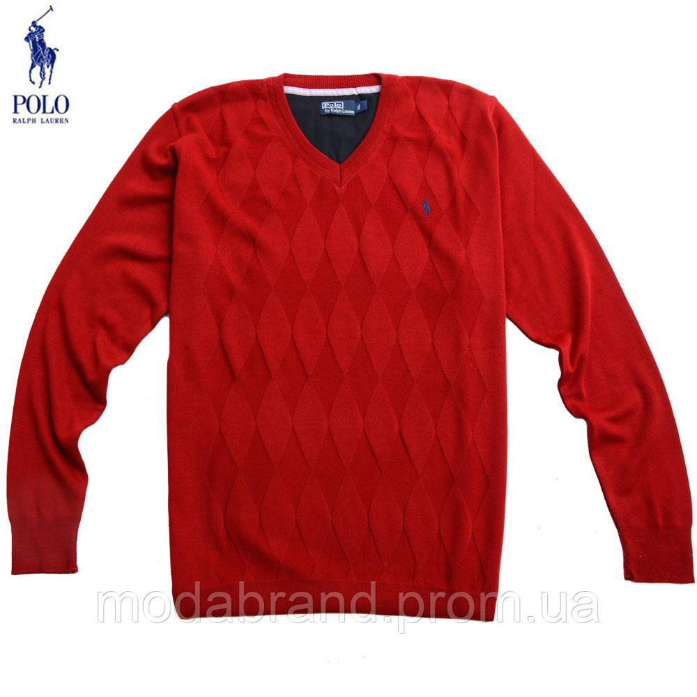 02661f2f6f5 Яркий мужской пуловер c v-вырезом