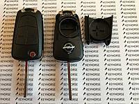 Корпус выкидного автоключа для OPEL VECTRA,Astra, Zafira (Опель Вектра) 3 - кнопки, лезвие HU100