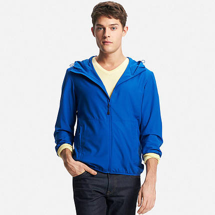 Куртка Uniqlo Men Lightweight Packable Hooded BLUE65, фото 2