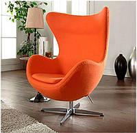 Дизайнерское кресло Эгг Egg chair оранжевый кашемир, бесплатная доставка