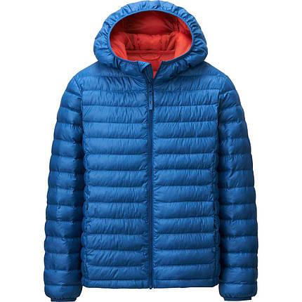 Куртка Uniqlo kids light warm padded BLUE, фото 2