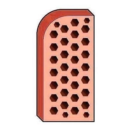 Лицевой фасонный кирпич СБК ВФ-8 1NF 250х120х65 мм абрикосовый