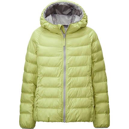 Куртка Uniqlo Girls Light Warm Padded GREEN, фото 2
