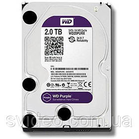 Жесткий диск 2 ТБ WD20PURX , HDD 2tb, Western Digital Purple 2TB 64MB 5400rpm