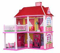 Дом для куклы 6980 (2 этажа,5 комнат, мебель, два варианта сборки)