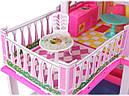 Дом для куклы 6980 (2 этажа,5 комнат, мебель, два варианта сборки), фото 6