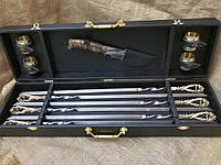 Набор шампуров с бронзовыми рюмками и ножом Люкс Nb Art 11 предметов 47330050