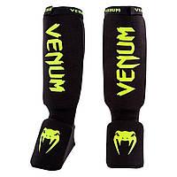 Защита голени Venum Kontact Shin and Instep Guards - Black/Neo Yellow