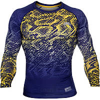 Компрессионная кофта  Venum Tropical Compression T-shirt - Blue/Yellow