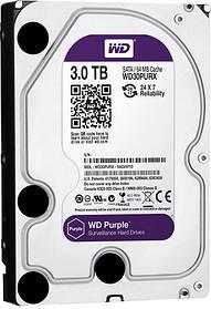 Жесткий диск 3 ТБ WD30PURX , HDD 3tb, Western Digital Purple 3TB 64MB 5400rpm SATA III
