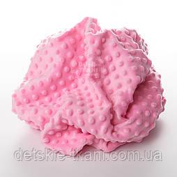 Плюш minky тёмно-розового цвета.