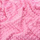 Плюш minky тёмно-розового цвета., фото 3