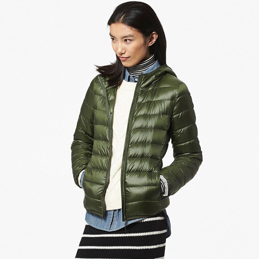 Куртка Uniqlo Women Ultra Light Down Hooded OLIVE