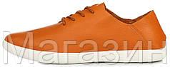Мужские кожаные кеды ECCO Blucher Orange Экко оранжевые