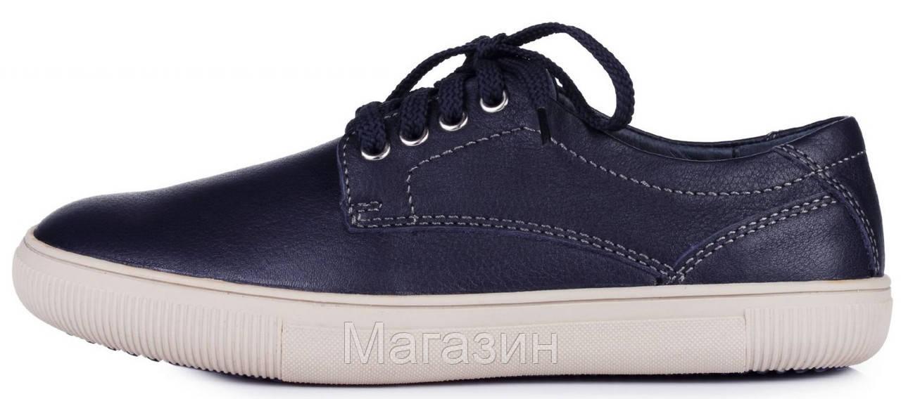 3a717b88a Мужские кожаные кеды ECCO Keds Экко синие - Магазин обуви New York в Киеве