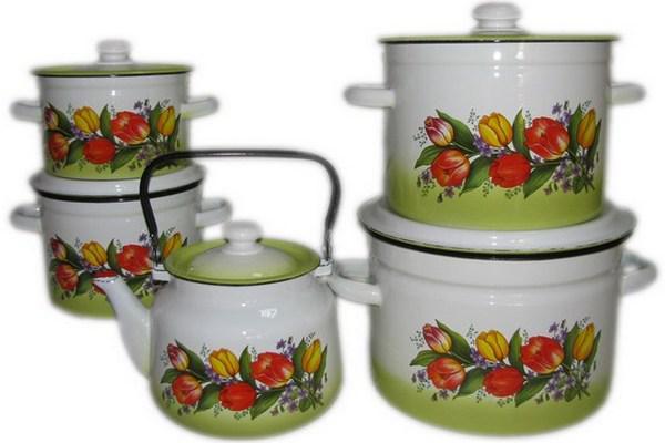 Набір посуду емальований EPOS, Новомосковск, №103 Весняний букет
