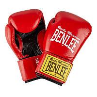 Перчатки тренировочные BENLEE LEATHER BOXING GLOVES FIGHTER RED/BLACK