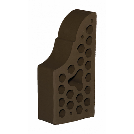 Лицевой фасонный кирпич СБК ВФ-4 1NF 250х120х65 мм какао, фото 2