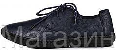 Мужские кожаные мокасины Clarks Casual Sneakers Blue Кларкс синие