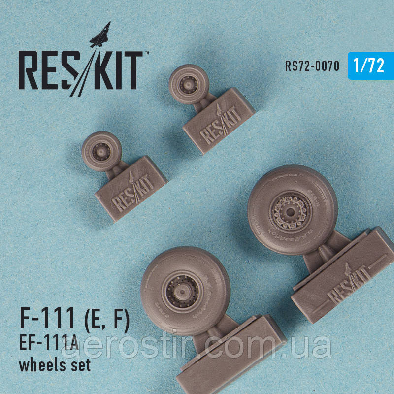 General Dynamics F-111 (E, F) / EF-111A wheels set 1/72 RES/KIT 72-0070