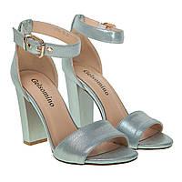 6e1463dc6 Босоножки женские Gelsomino (голубого цвета, оригинальные, на высоком  каблуке, стильные)