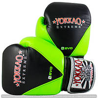 Перчатки тренировочные YOKKAO EXTREME V-EVO COLLECTION BLACK/GREEN
