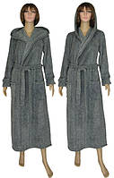 NEW! Классические женские длинные махровые халаты Grafite Melange ТМ УКРТРИКОТАЖ!