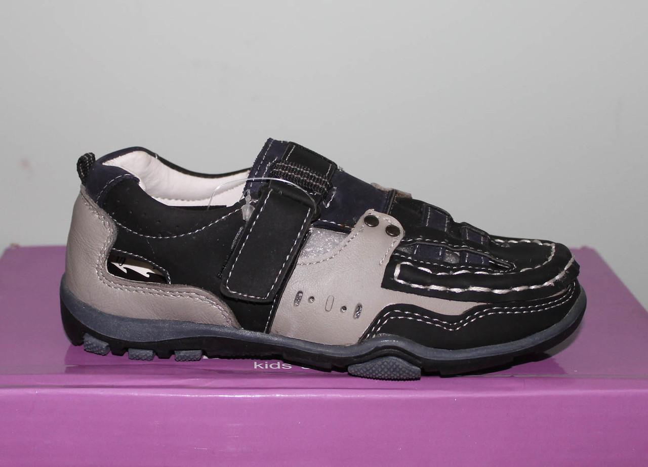 Туфлі літні для хлопчика, шкіряні, 26-32